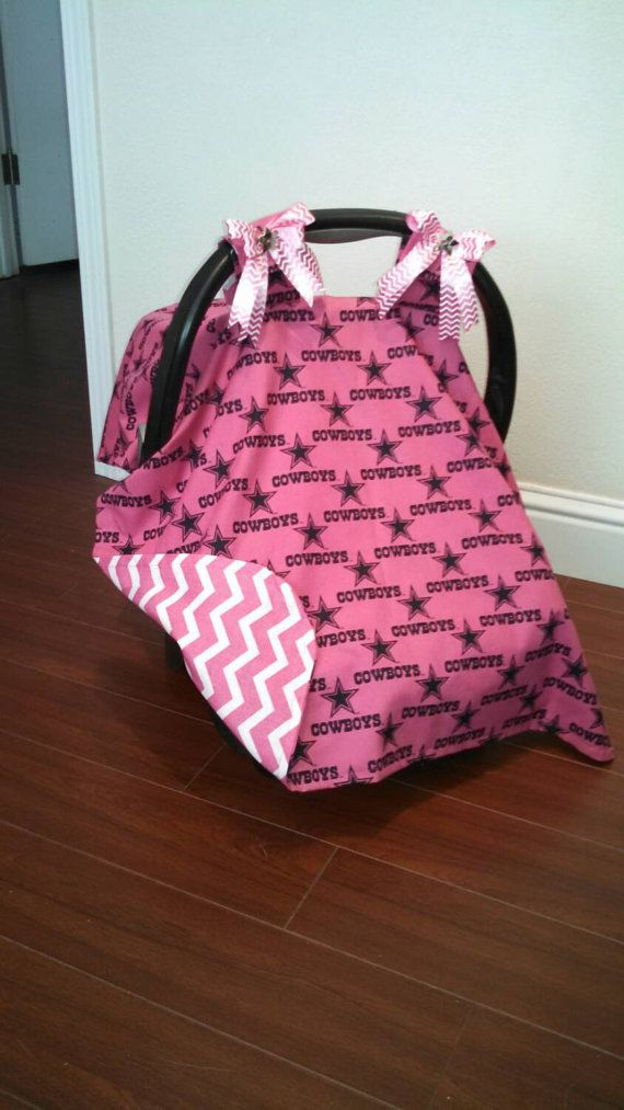 Pink Dallas Cowboys Car Seat Canopy By RodellsBoutique On Etsy