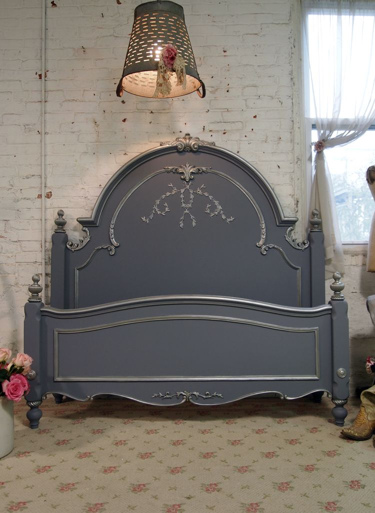 Painted Cottage Shabby Slate Grey Romantic Bed [GREYBD ...