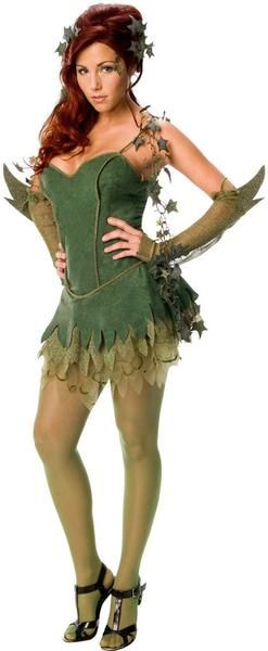 Poison Ivy Adult Costume Includes: Dress, Glovelets, Hairpiece, Boa. Does not include shoes or tights. Weight (lbs) 0.6 Length (inches) 14 Width (inches) 12 Height(inches) 2 Adult Costumes Green Medium WOMEN Everyday Female Adult
