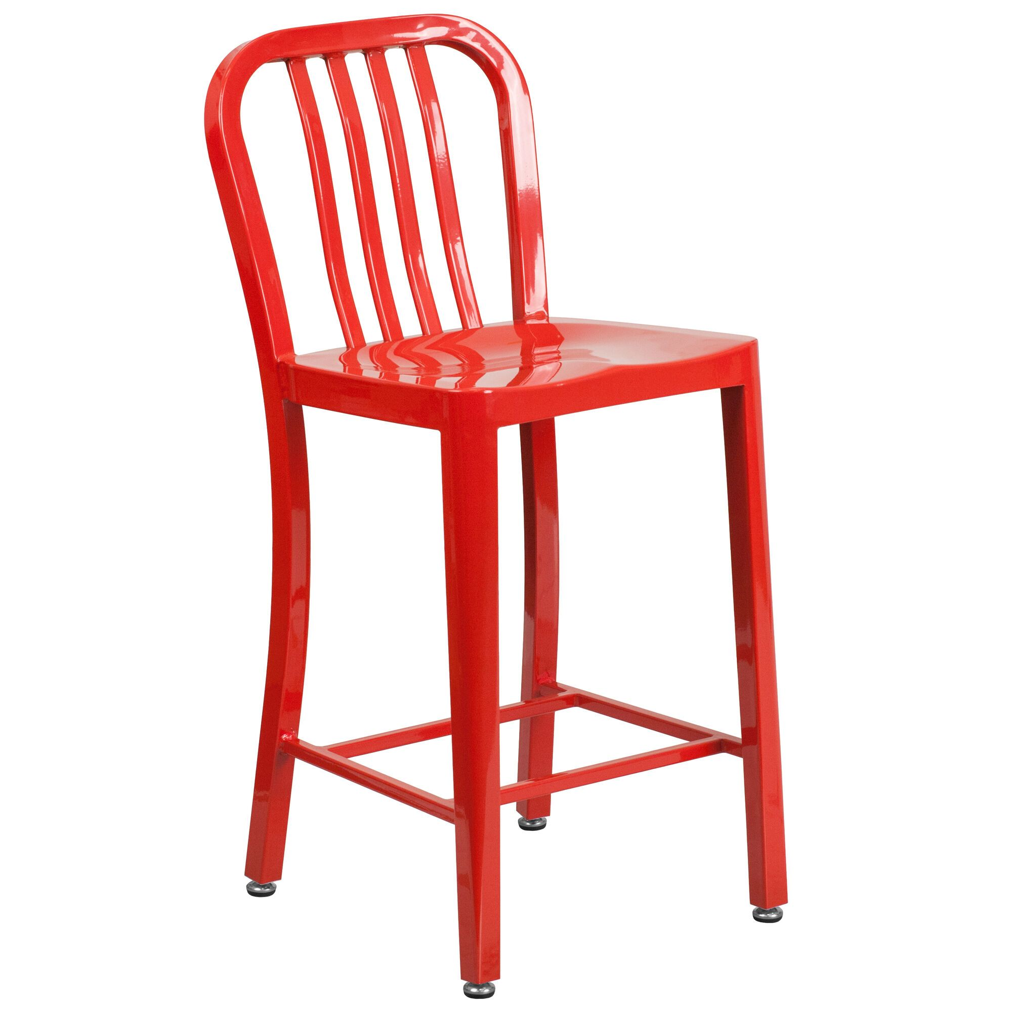 24 Red Metal Outdoor Stool Ch 61200 24 Red Gg Modern Counter Stools Flash Furniture Counter Height Stools