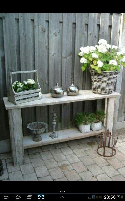 Steigerhouten Sidetable Koog.Oppottafel Steigerhout Pinterest Gardens Garden Ideas