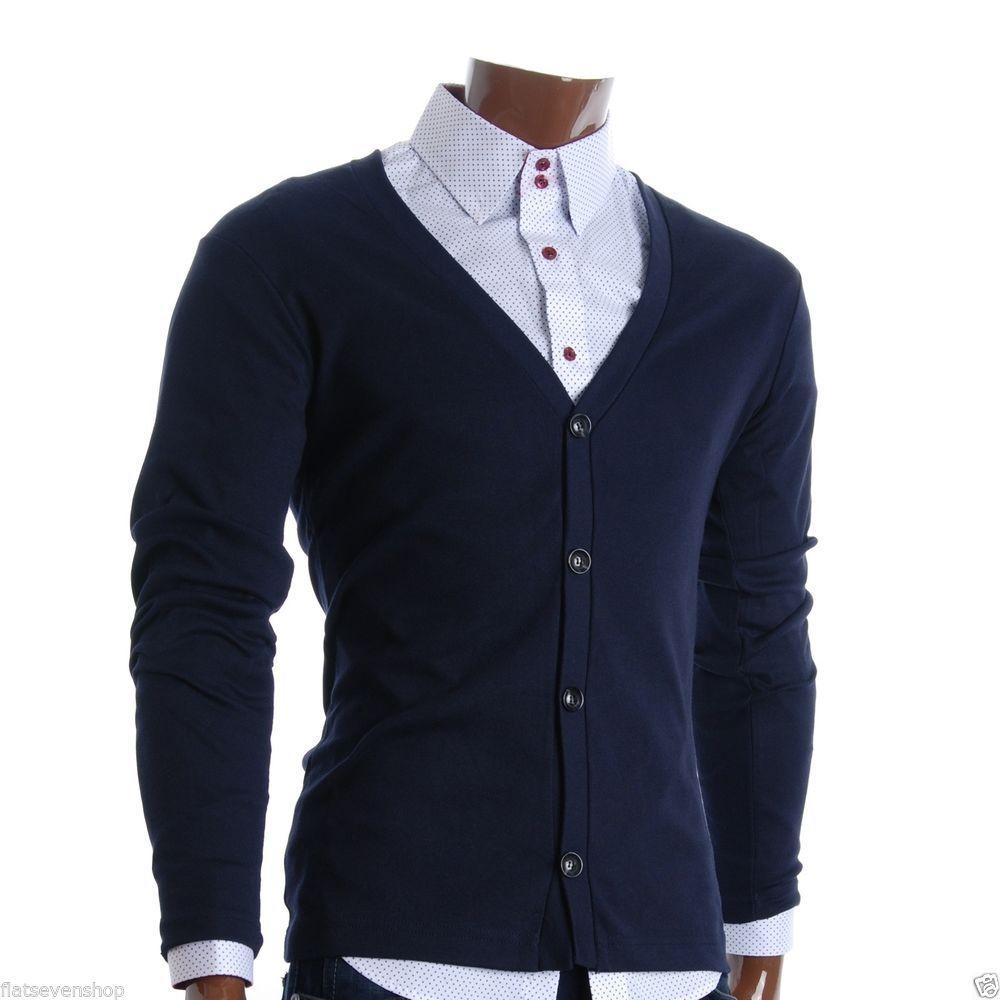 FLATSEVEN Mens Slim Fit Stylish Button up Cardigan (C100) #FLATSEVEN #Cardigan