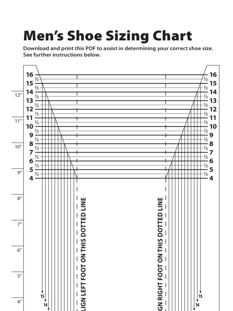 Luscious image in printable foot measure