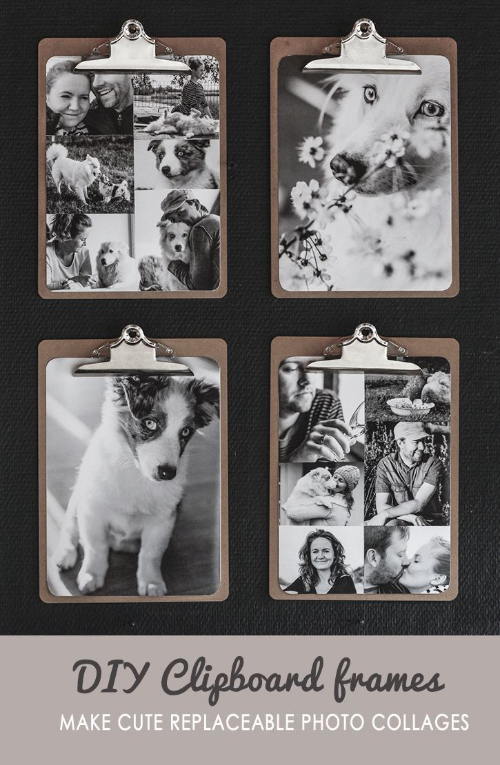 Diy replaceable photo collages clipboards collage and display diy replaceable photo collages solutioingenieria Choice Image