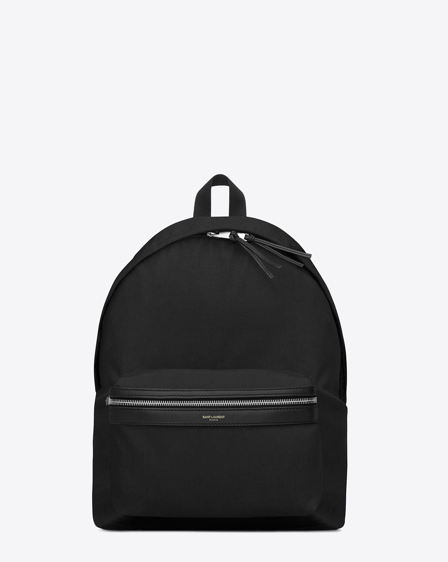 c9631d79 Saint Laurent Classic Hunting Backpack In Black Nylon Canvas And Leather |  YSL.com