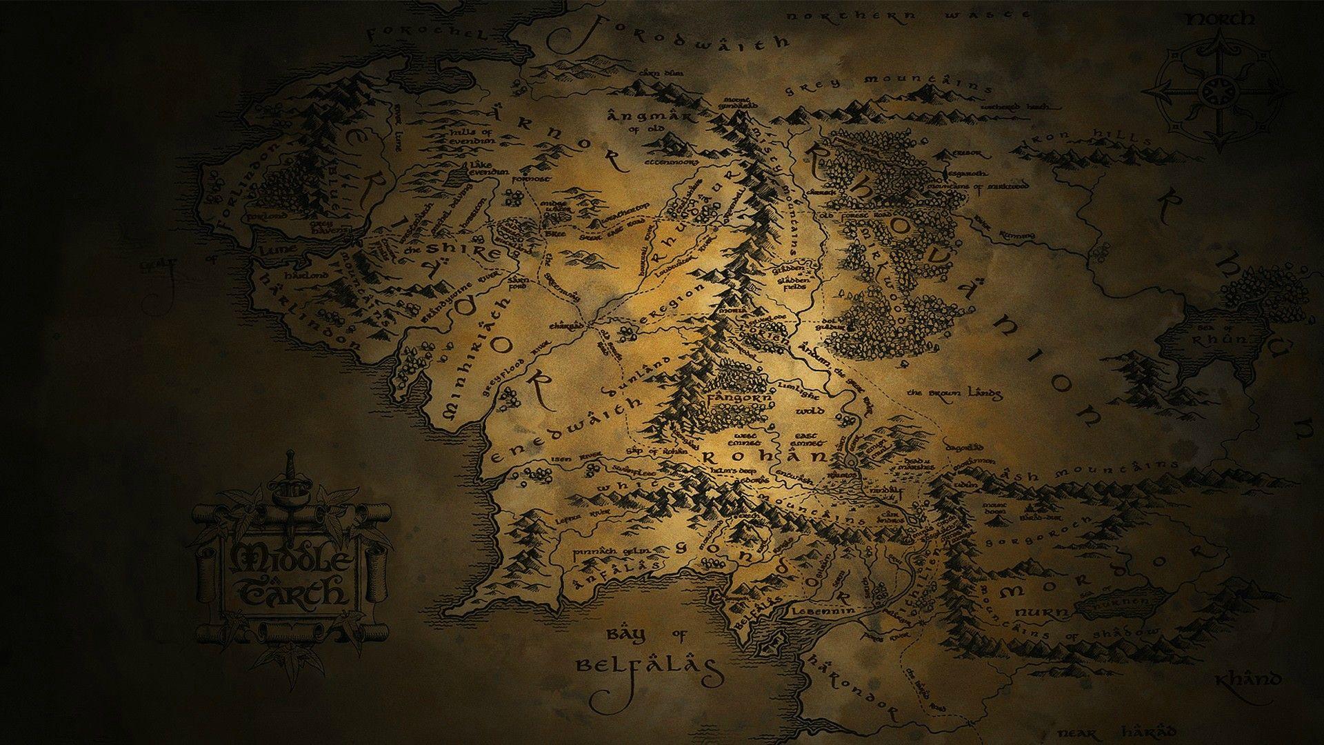 Tolkien Wallpapers En 2019 Carte Terre Image Hd Et