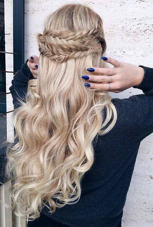 47 Gorgeous Prom Hairstyles For Long Hair Page 2 Of 5 Stayglam Prom Hairstyles For Long Hair Easy Hairstyles For Long Hair Wedding Hairstyles Half Up Half Down
