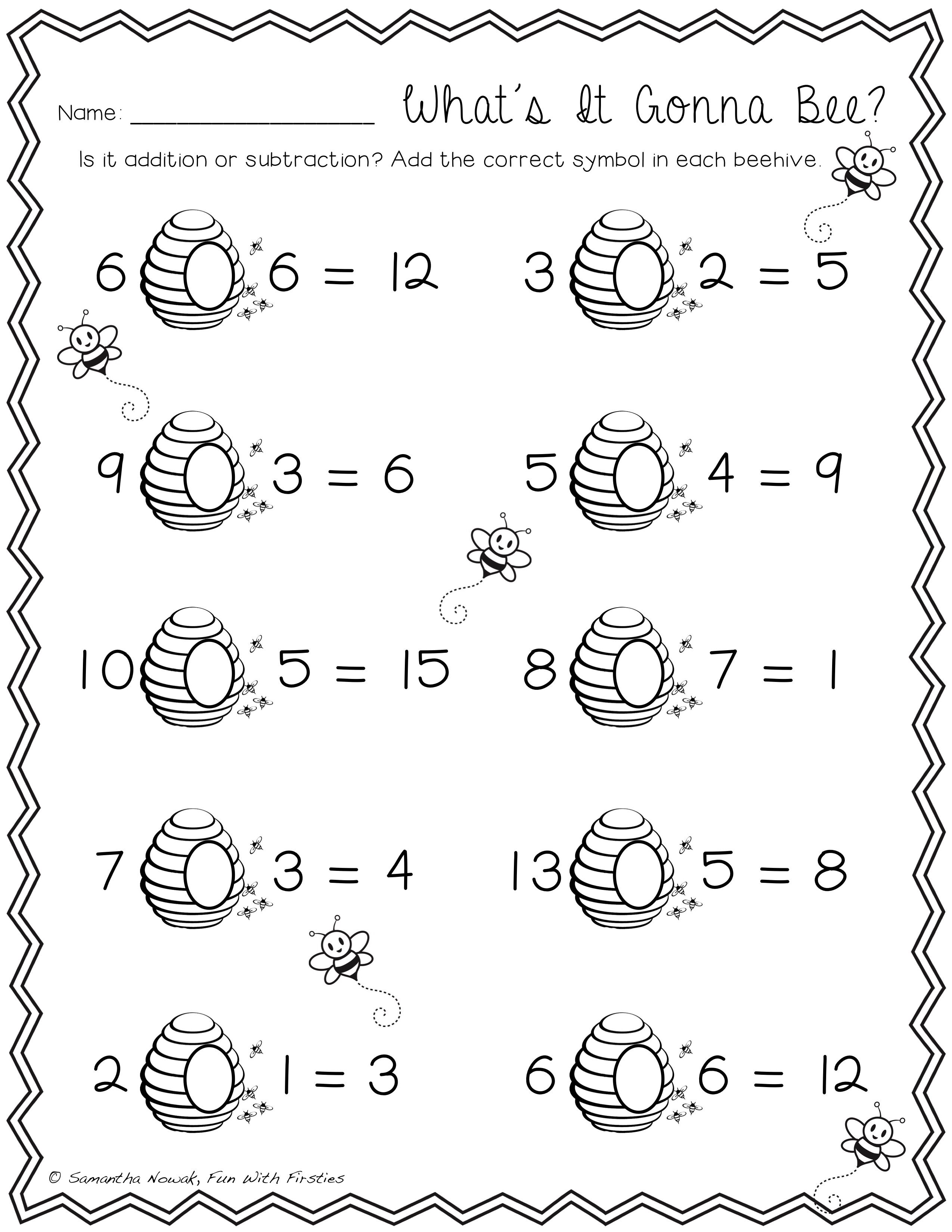 What S It Gonna Bee Students Have To Determine Whether It S An Addit Subtraction Practice Worksheets Addition And Subtraction Practice Subtraction Practice [ 3299 x 2549 Pixel ]