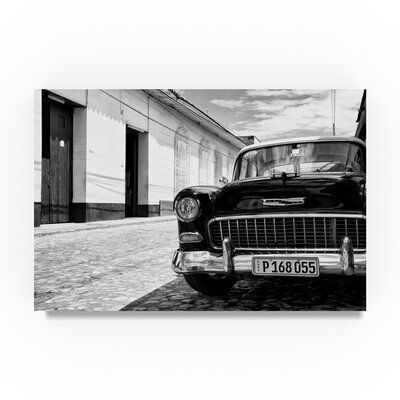 Trademark Fine Art '1955 Chevy Classic Car II' Photographic Print on Wrapped Canvas Size: 12″ H x