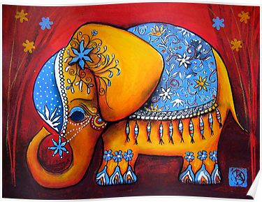 Pin Von Mirta Rodriguez Auf Canvas Painting Elefanten Leinwand Bunter Elefant Mandala Elefant
