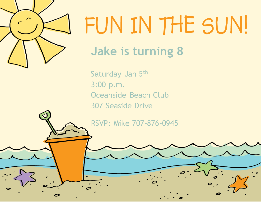 Beach Themed Party Invitations baby shower reveal invitations how – Beach Themed Party Invitations