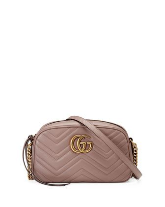 Blissfull: Gg Marmont Matelassé Mini Bag Dusty Pink
