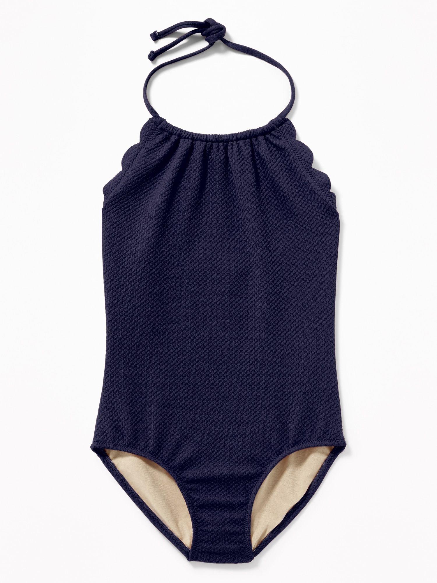 NWT Baby GAP Retro Polka Dot Printed Ruffle 1-piece Swimsuit Swimwear Girls 4 5