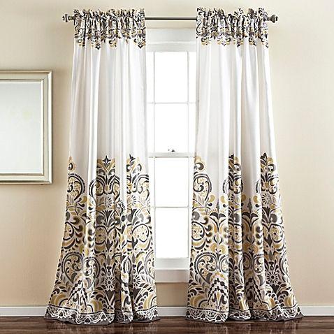 Lush Decor Clara 84 Inch Room Darkening Window Curtain Panel Pair