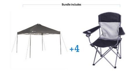 Ozark Trail 10x10 Canopy with 4 Basic Mesh Chairs Value Bundle - Walmart.com $69  sc 1 st  Pinterest & Ozark Trail 10x10 Canopy with 4 Basic Mesh Chairs Value Bundle ...