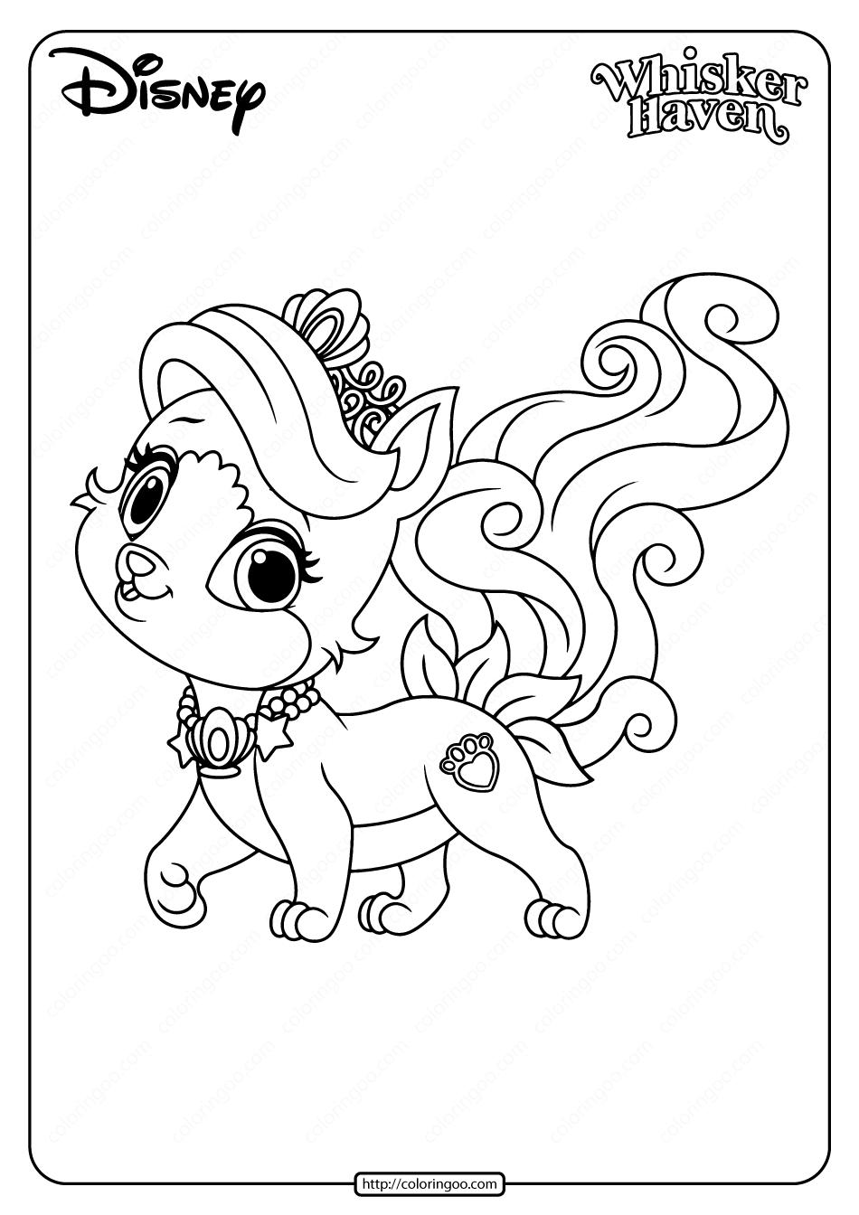 Printable Palace Pets Treasure Pdf Coloring Page Coloring Pages Palace Pets Coloring Books