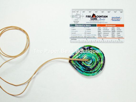 Hand Rolled Coiled Paper Pendant Jewelry by ThePaperBeadBoutique