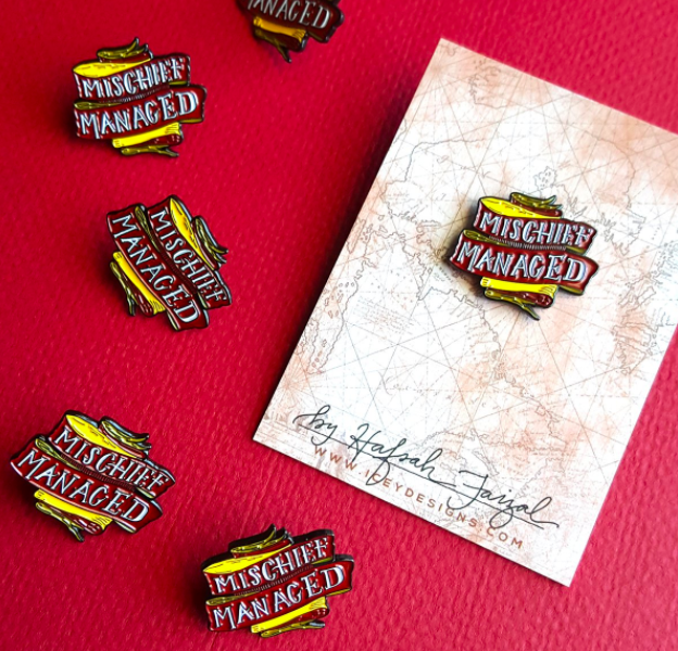 """This mischief managed pin:   19 """"Harry Potter"""" Enamel Pins Every Potterhead Will Want"""