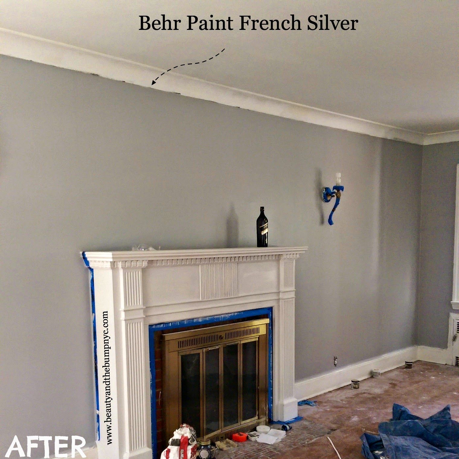 Behr French Silver Gym Colour Paint Pinterest Behr French Silver Behr And House