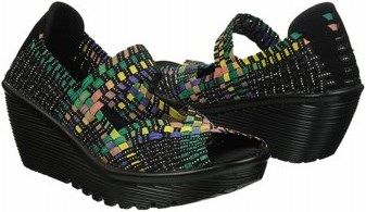 7cdcc28ed56e Skechers Cali Women s Parallel Memory Foam Woven Wedge Sandal at Famous  Footwear Sketchers Shoes Women