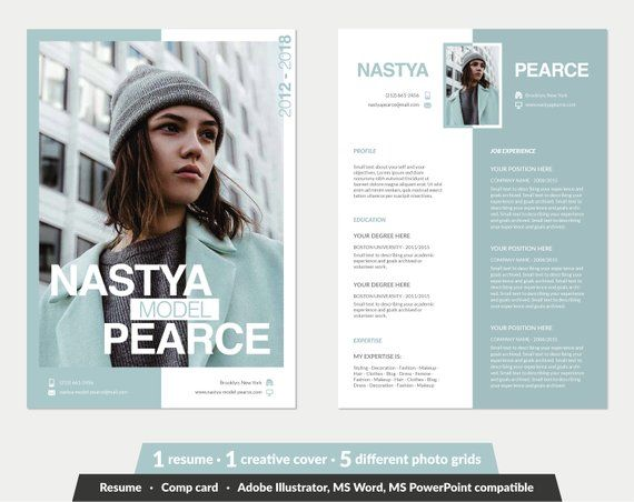 model resume template  u2022 word  powerpoint  illustrator  u2022 1