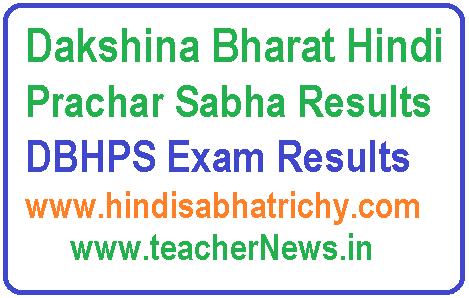 Dakshina Bharat Hindi Prachar Sabha Results At Www Hindisabhatrichy Com Exam Results Sabha Exam