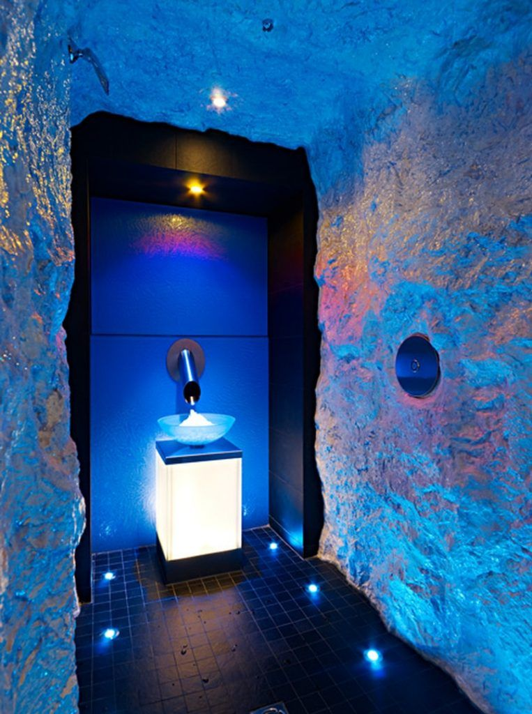 Ice Fountain Bradford Wellness Spa Cold Room Fountains Fountain