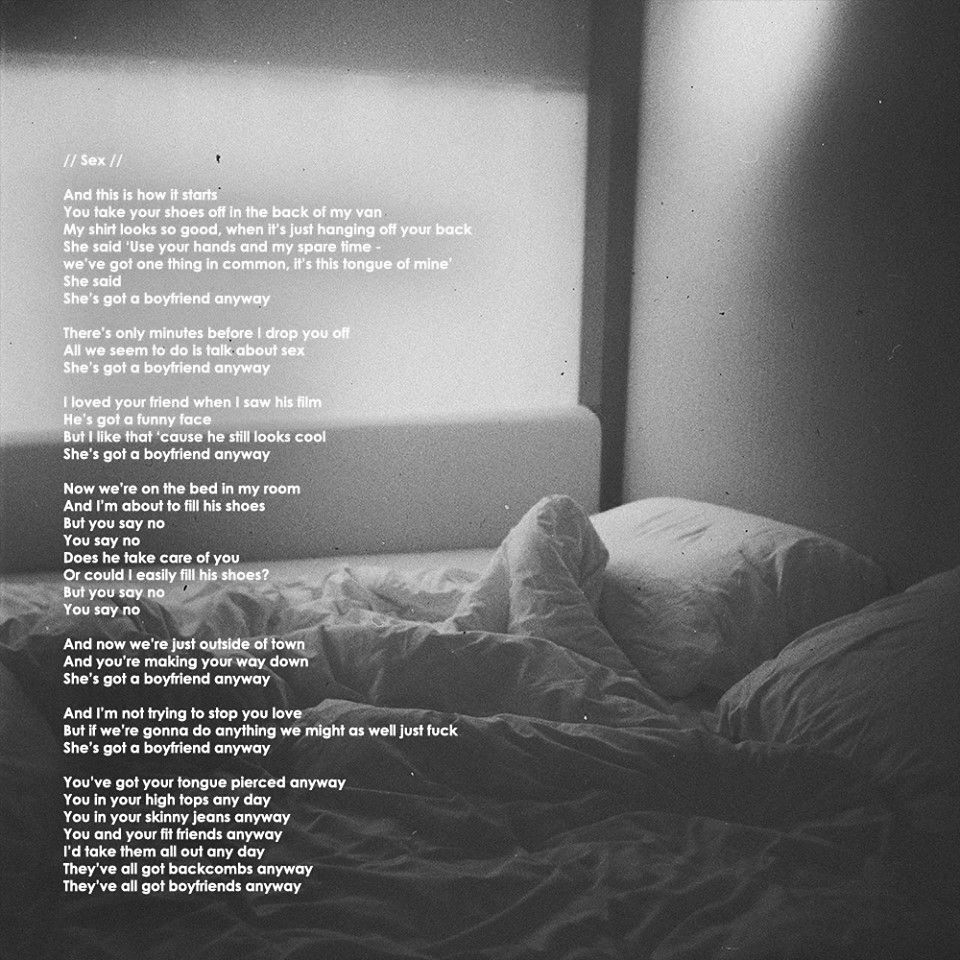 Sex by the 1975 lyrics images 69
