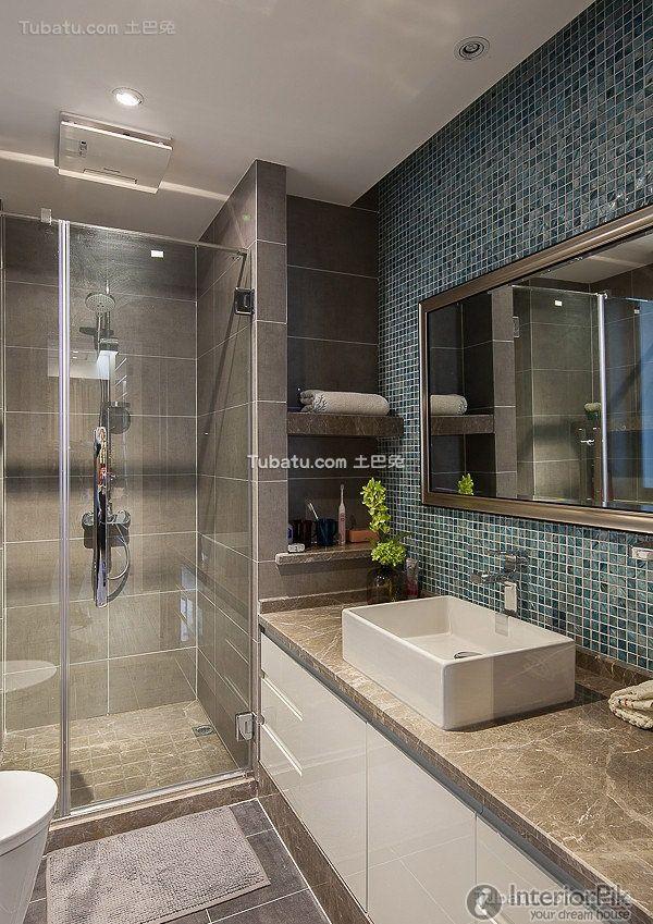 modern mosaic tiles to bathroom decoration 2015 - Mosaic Tile House 2015