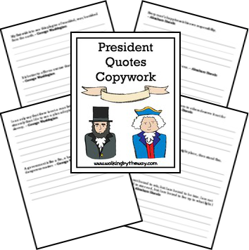 FREE copywork pages filled with quotes by George