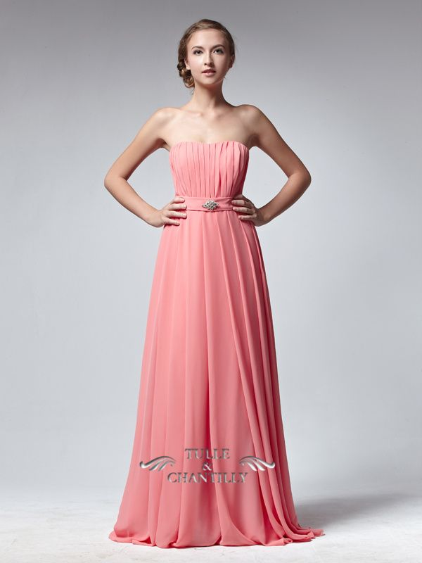 b>Pure</b>-Simple Strapless Full Length Bridesmaid Dress 1 ...