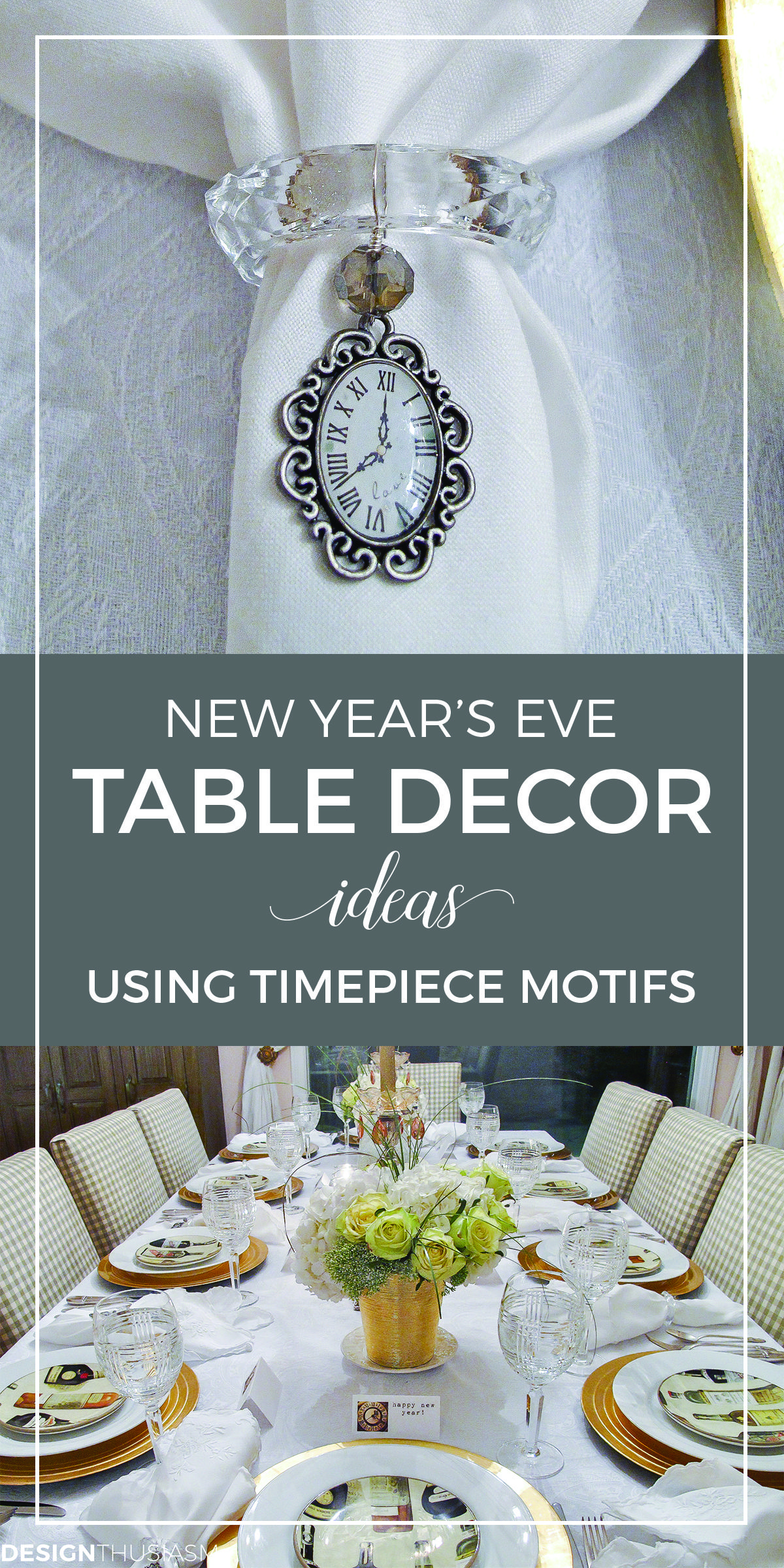 new years eve table decor ideas for your home party new years eve party themes new years tablescape using clocks new years table setting with