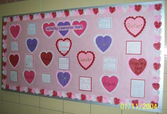 Math Conversation Hearts Valentine S Day Bulletin Board Idea