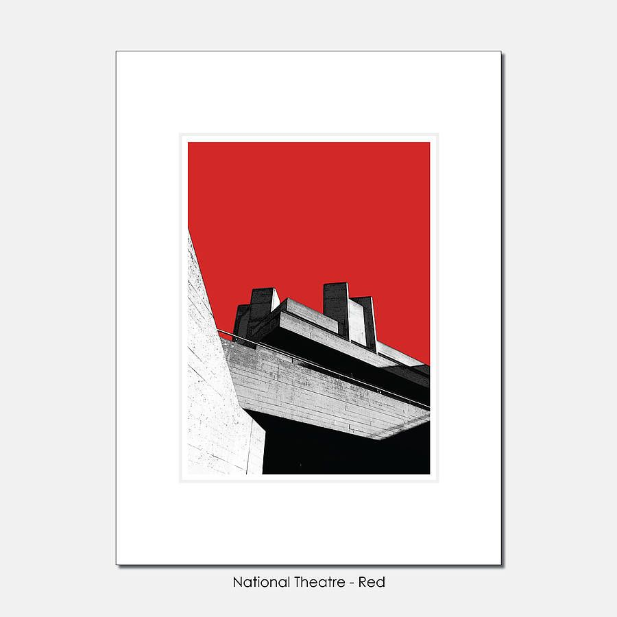 National Theatre London Limited Edition Print