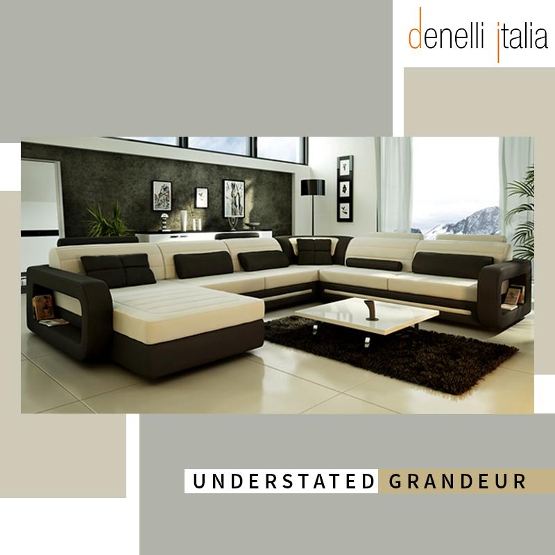 The Granada Contemporary Corner Sofa Is A Plush Dual Toned Evocative Of