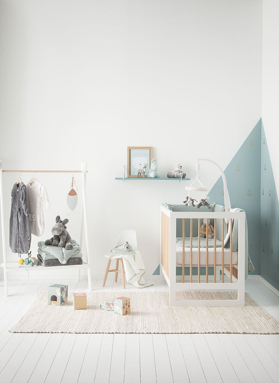 The Sublime Collection Mint green and grey baby room for little