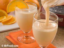 Orange Dream Shake  #orange #drink #milkshake #delicious #sherbet #yogurt