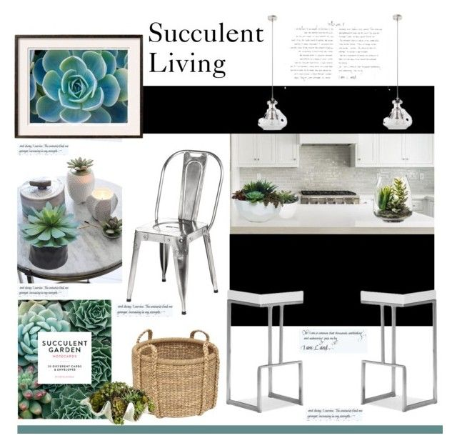 """""""Succulent Living'"""" by dianefantasy ❤ liked on Polyvore featuring interior, interiors, interior design, home, home decor, interior decorating, Torre & Tagus, Zuo, Lux-Art Silks and Capri Blue"""