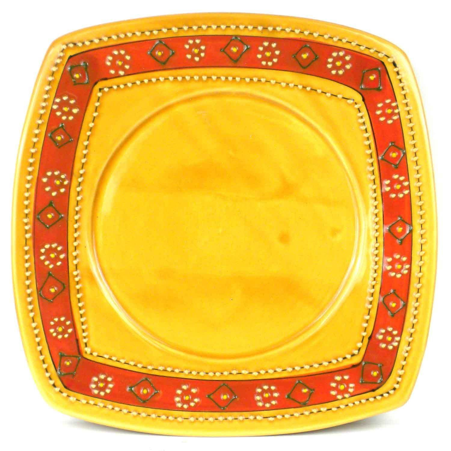 Lead-free dishwasher and microwave safe this richly-colored square plate is  sc 1 st  Pinterest & Lead-free dishwasher and microwave safe this richly-colored ...