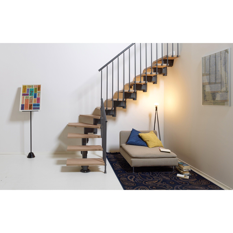 Escalier Droit Revers Acier Gris Anthracite Long 12 Marches Orme Clair L 65 Cm En 2020 Escalier Modulaire Escalier Droit Escalier