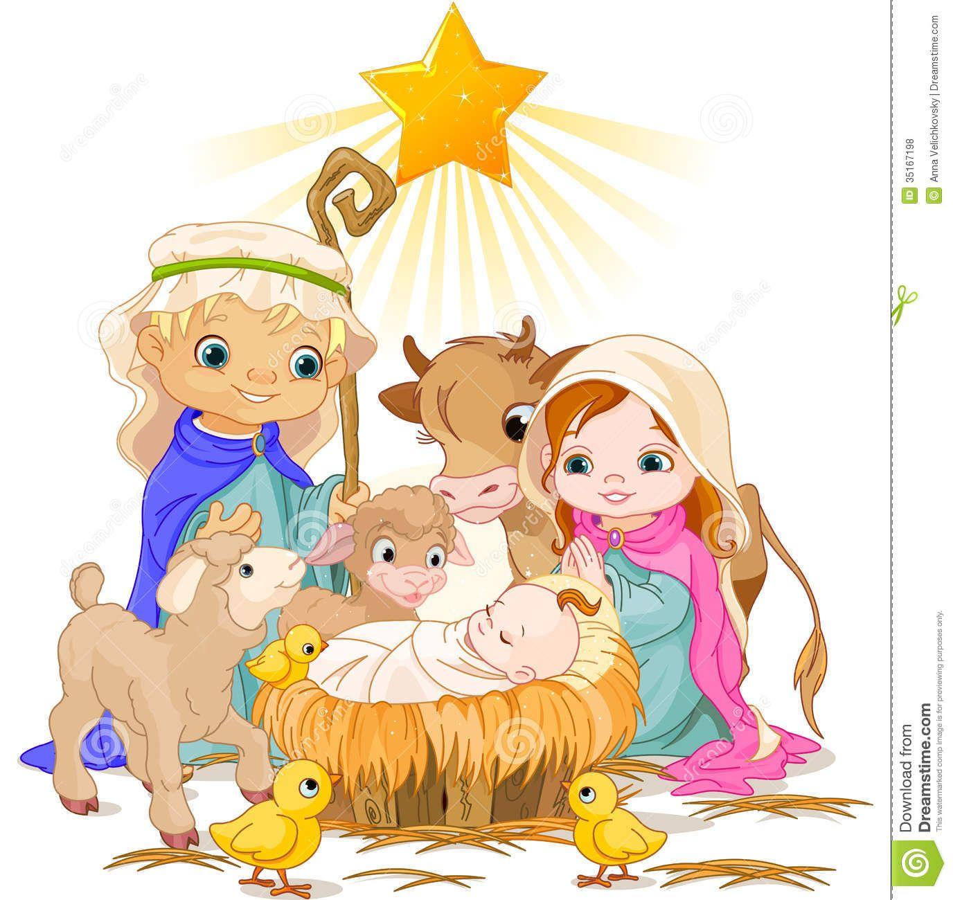 Free Christmas Nativity Scene Clip Art | Christmas Manger ...