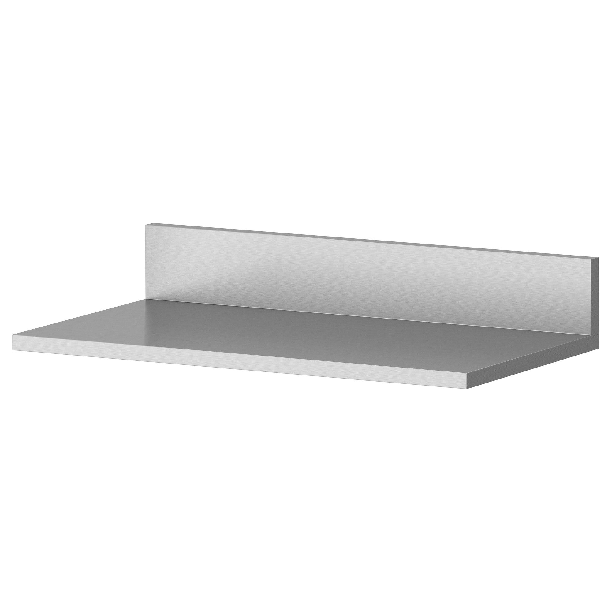 Ikea Stainless Steel Wall Shelf, Kitchen Spice Rack Storage Organizer  Limhamn, X (Pack of