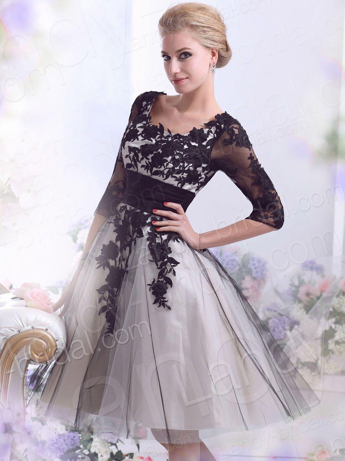 alinesquareshorttulleblackweddingdress Black