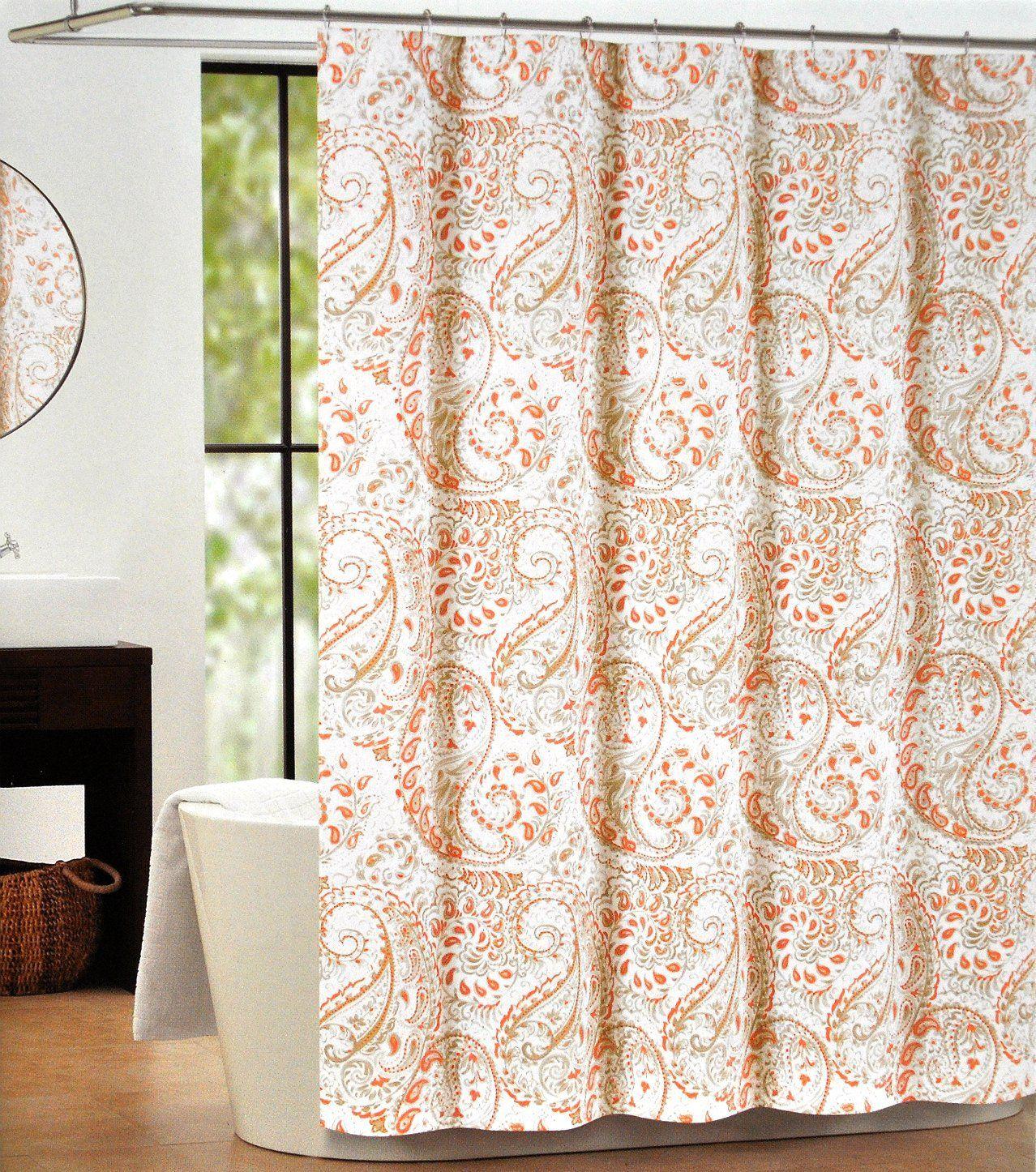 Amazon Com Tahari Luxury Cotton Blend Shower Curtain