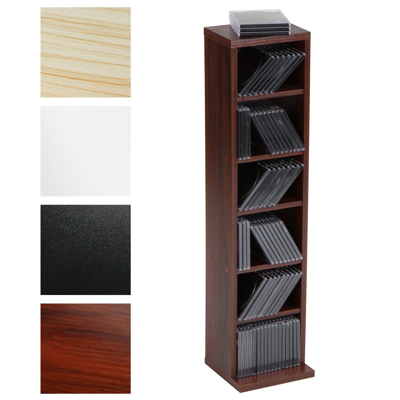CD-Regal CD-Ständer mit Platz für 102 CDs in vier verschiedenen ...