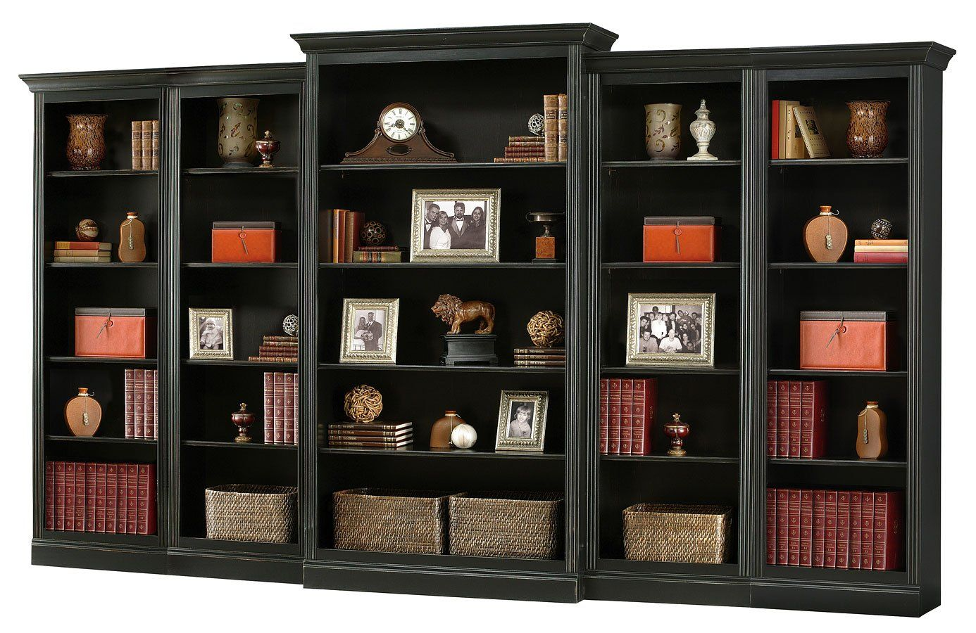 Oxford Large Bookcase Wall Antique Black