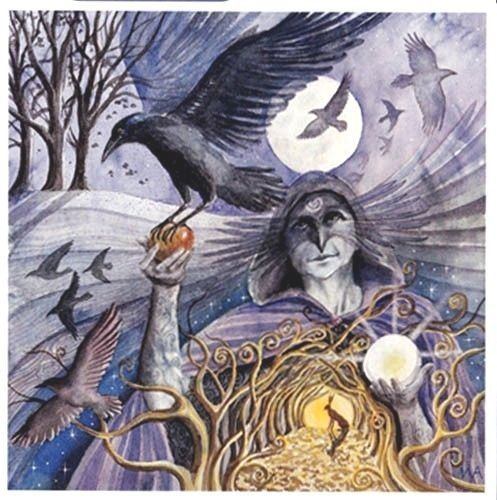 Pagan Wiccan Greeting Cards Crow Woman Wendy Andrew Birthday Goddess
