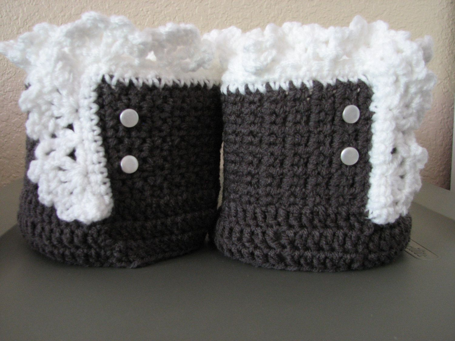 Ladies/girls crochet ruffled boot cuffs by ragstorichesknitting on ...