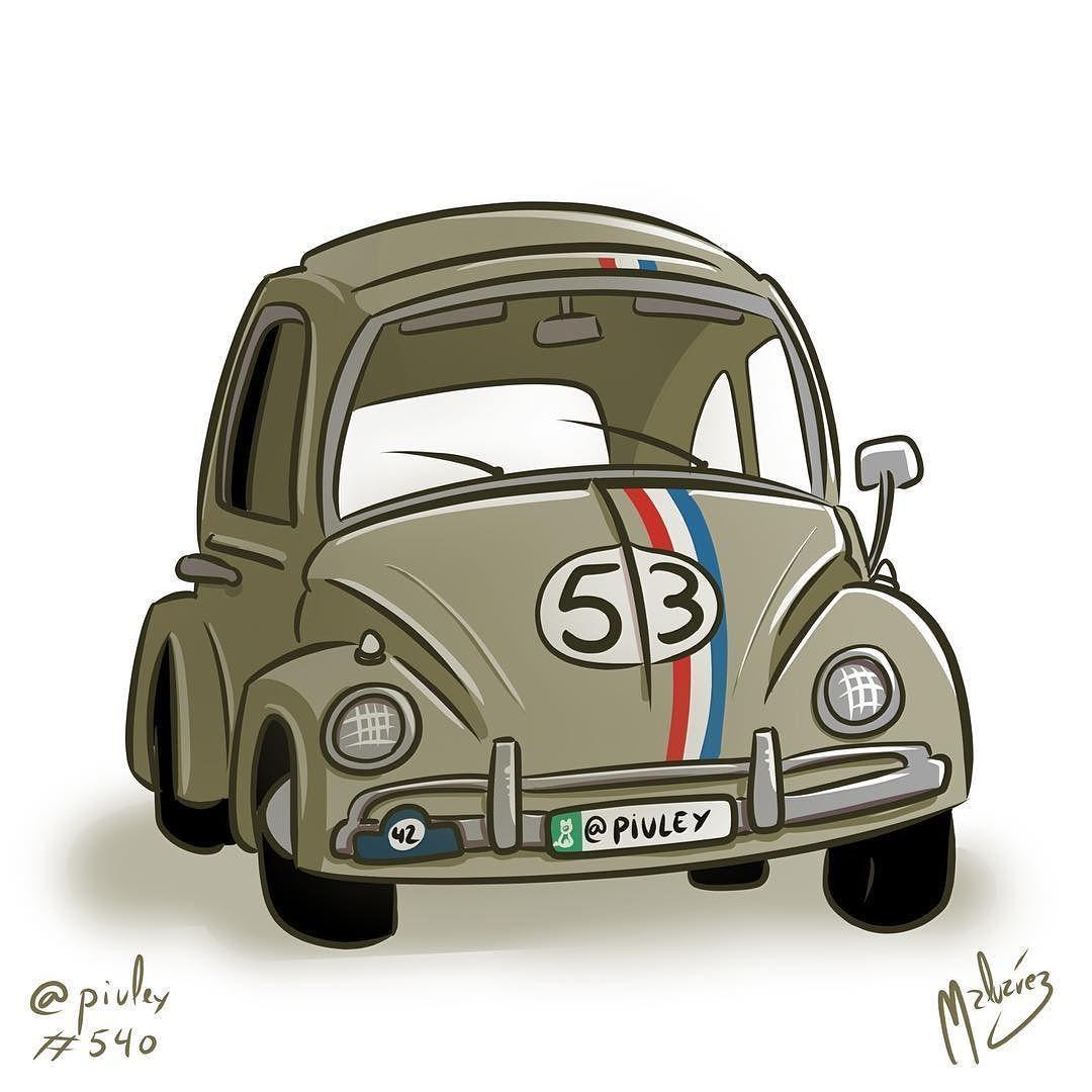 Herbie Volkswagen Sedan The love bug Ahí va ese bólido #car #beetle #escarabajo #volskwagen #sedan #herbie #thelovebug #illustration #draw #sketch #drawing #art #artistsoninstagram #dailysketch #digital #digitalpainting #digitalart #cute #adorable #chibi #kawaii