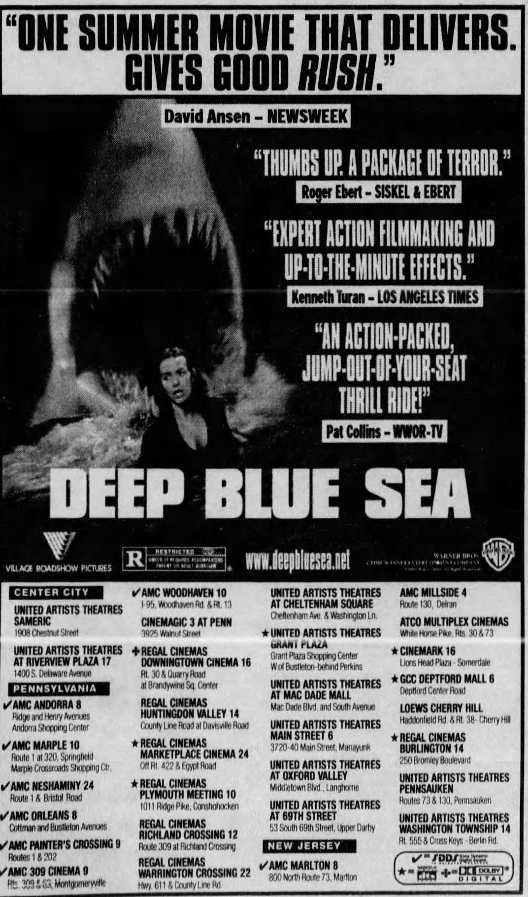 Deep Blue Sea 1999 Deep Blue Sea Deep Blue Sea 1999 Summer Movie